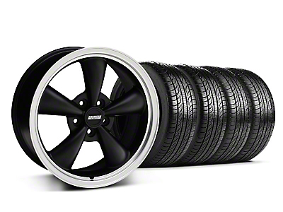 Bullitt Matte Black Wheel & Pirelli Tire Kit - 18x8 (05-14 GT, V6)