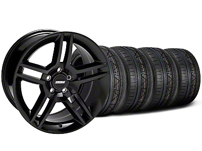 Staggered 2010 GT500 Style Black Wheel & NITTO INVO Tire Kit - 18x9/10 (05-14 All)