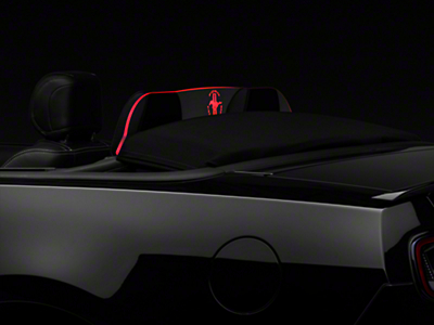 SpeedForm Laser Engraved Wind Deflector w/ Red Illumination - Tri-bar (11-14 Convertible)