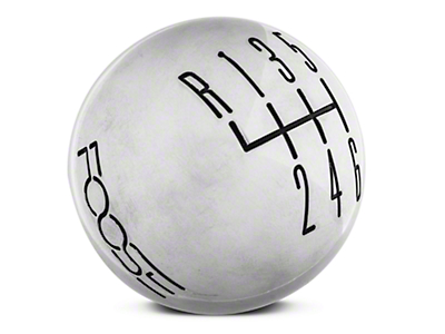 MMD by FOOSE Retro Style 6 -Speed Shift Knob w/ FOOSE logo - Polished (11-14 GT, V6)