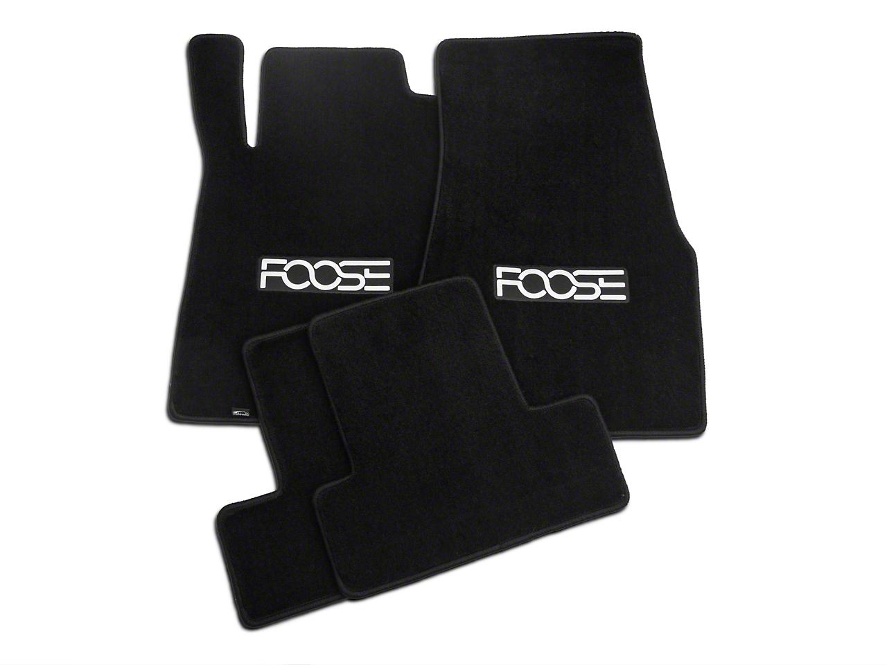Black Floor Mats - Foose Logo (13-14 All)