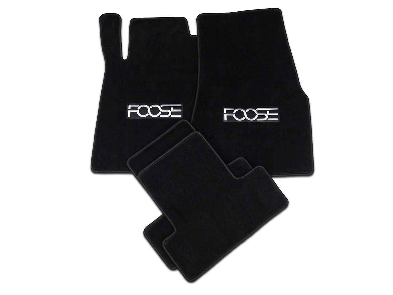 Black Floor Mats - Foose Logo (11-12 All)