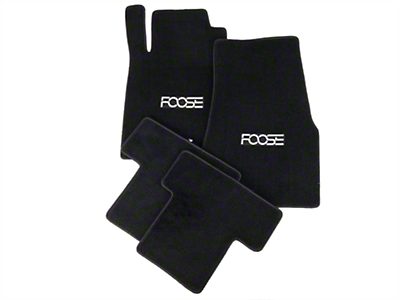 Black Floor Mats - Foose Logo (05-10 All)