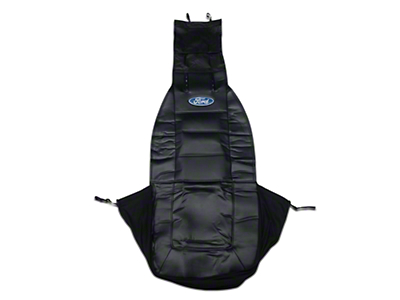 Sideless Seat Cover w/ Head Rest - Ford Oval Logo (79-17 All)