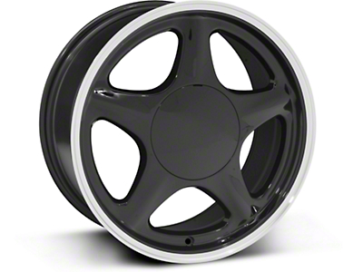 Pony Style Black w/ Machined Lip Wheel - 17x8 (87-93; Excludes 93 Cobra)
