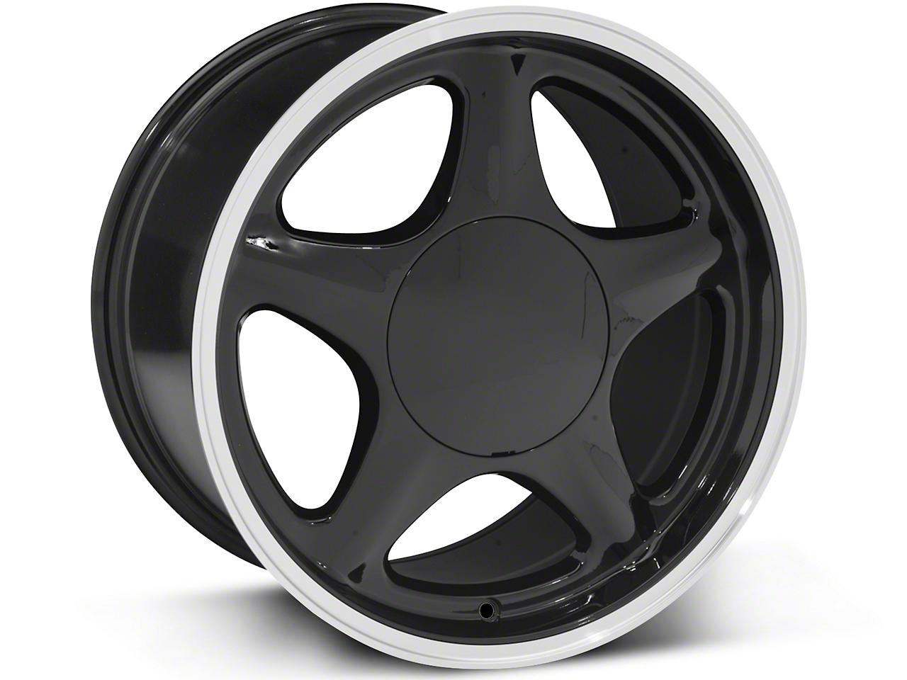 Pony Style Black w/ Machined Lip Wheel - 17x10 (87-93; Excludes 93 Cobra)