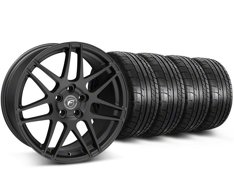 Forgestar F14 Monoblock Matte Black Wheel & Mickey Thompson Tire Kit - 19x9.5 (15-17 All)