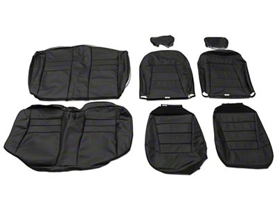 OPR Replacement Leather Seat Upholstery - Convertible - Dark Graphite (03-04 All)