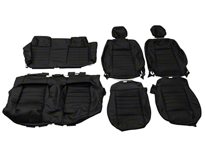 OPR Replacement Leather Seat Upholstery - Convertible - Black (05-09 All)