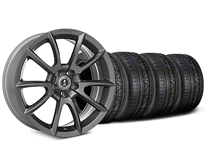 Shelby Super Snake Style Charcoal Wheel & NITTO INVO Tire Kit - 20x9 (15-17 All)