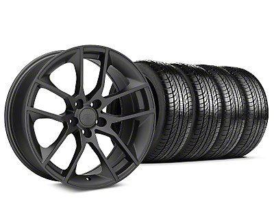Staggered 2015 Mustang GT Style Charcoal Wheel & Pirelli Tire Kit - 19x8.5 (15-17 All)