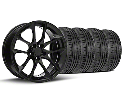 Staggered 2015 Mustang GT Style Black Wheel & Sumitomo Tire Kit - 19x8.5 (15-17 All)