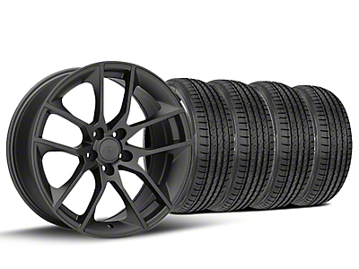 Staggered 2015 Mustang GT Style Charcoal Wheel & Sumitomo Tire Kit - 19x8.5 (15-17 All)