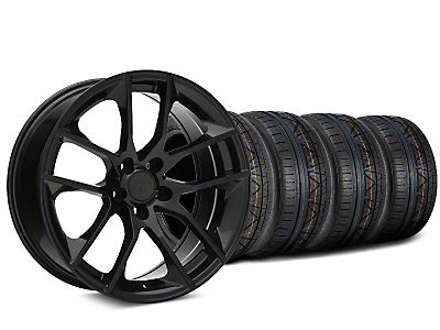 Staggered 2015 Mustang GT Style Black Wheel & NITTO INVO Tire Kit - 19x8.5 (15-17 All)