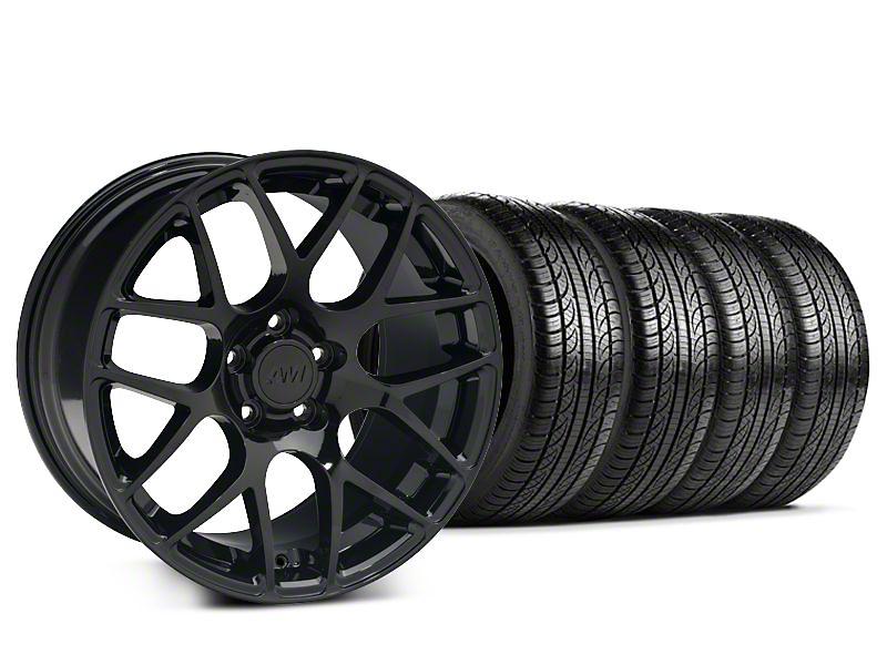 Staggered AMR Black Wheel & Pirelli Tire Kit - 19x8.5/10 (15-17 All)