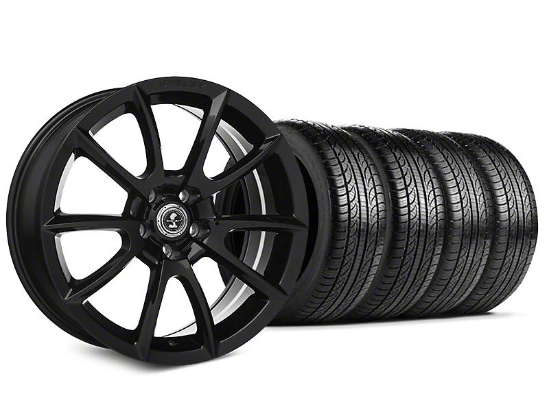 Shelby Super Snake Style Black Wheel & Pirelli Tire Kit - 19x8.5 (15-17 All)