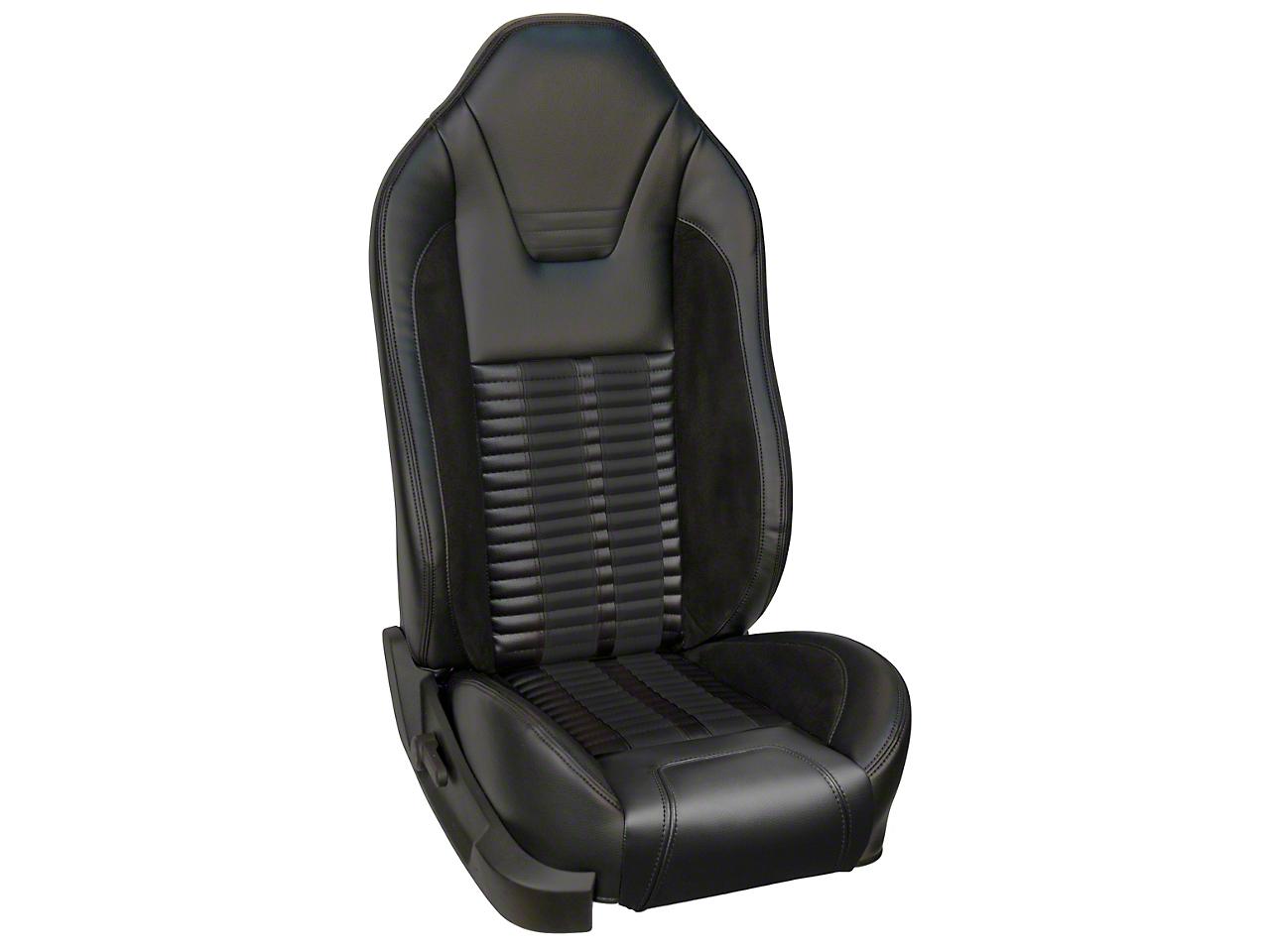 TMI Premium Sport R500 Upholstery & Foam Kit with Airbags - Black Vinyl & Black Stripe/Stitch (05-10 GT, V6)