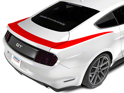 Red Upper Rear Surround Decal (15-17 All)