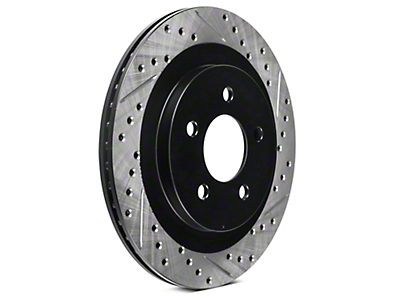 StopTech Sport Cross-Drilled & Slotted Rotors - Rear Pair (05-14 All; Excludes 13-14 GT500)