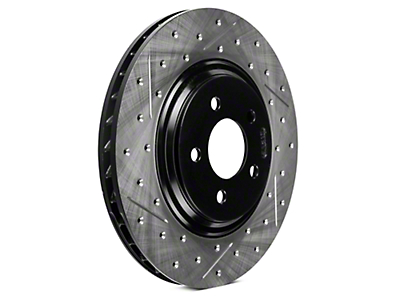 StopTech Sport Cross-Drilled & Slotted Rotors - Front Pair (94-04 Bullitt, Mach 1, Cobra)