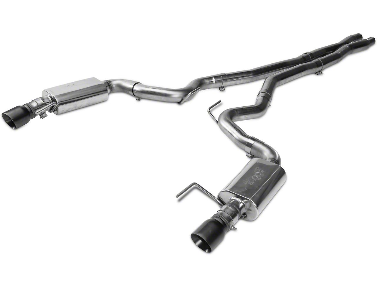 Kooks Cat-Back Exhaust w/ X-Pipe - Black Tips (15-17 GT Fastback)