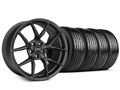 Staggered RTR Tech 5 Charcoal Wheel & Pirelli Tire Kit - 19x9.5/10.5 (05-14 All)