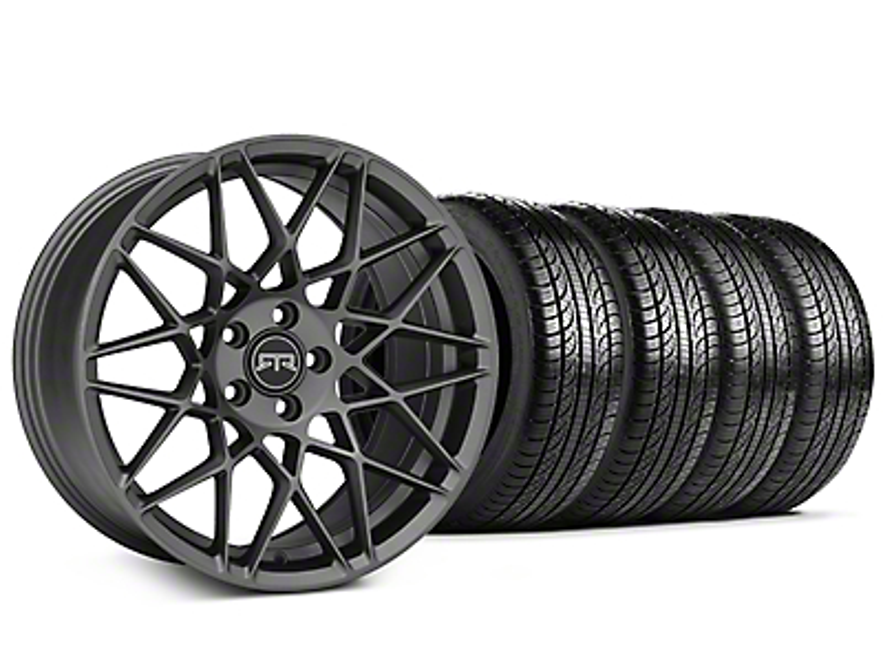 Staggered RTR Tech Mesh Charcoal Wheel & Pirelli Tire Kit - 19x9.5/10.5 (05-14 All)
