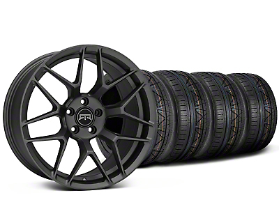 Staggered RTR Tech 7 Charcoal Wheel & NITTO INVO Tire Kit - 19x9.5/10.5 (05-14 All)