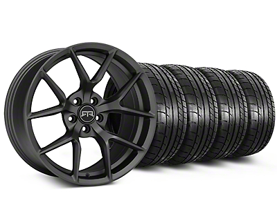 Staggered RTR Tech 5 Charcoal Wheel & Mickey Thompson Tire Kit - 19x9.5/10.5 (05-14 All)