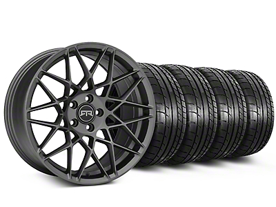 Staggered RTR Tech Mesh Charcoal Wheel & Mickey Thompson Tire Kit - 19x9.5/10.5 (05-14 All)