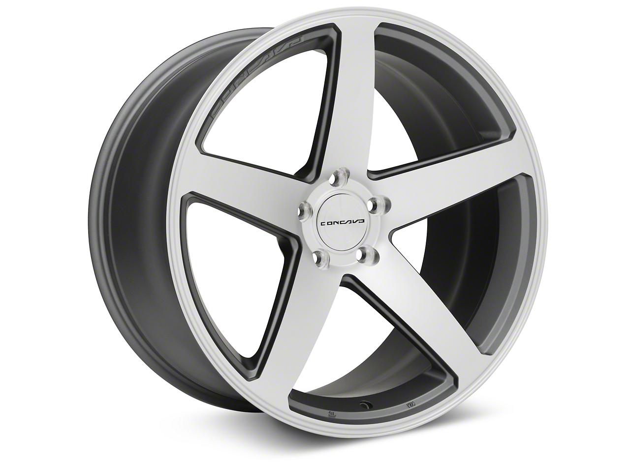 Concavo CW-5 Matte Gray Machined Wheel - 20x10.5 (05-14 All)
