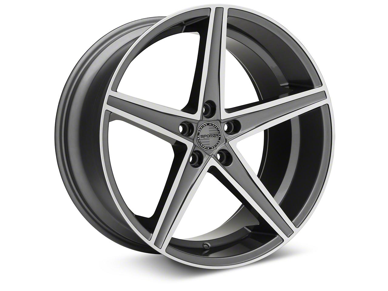 Sporza Topaz Gunmetal Machined Wheel - 20x10 (05-14 All)