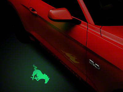 Side View Mirror Puddle Lamp Lens Tint - Green (13-17 All)