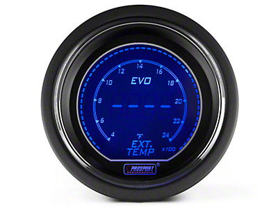 Dual Color Digital Exhaust Gas Temp Gauge - Electric, Blue/Red (79-17 All)