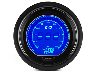Dual Color Digital Water Temp Gauge - Electric, Blue/Red (79-17 All)