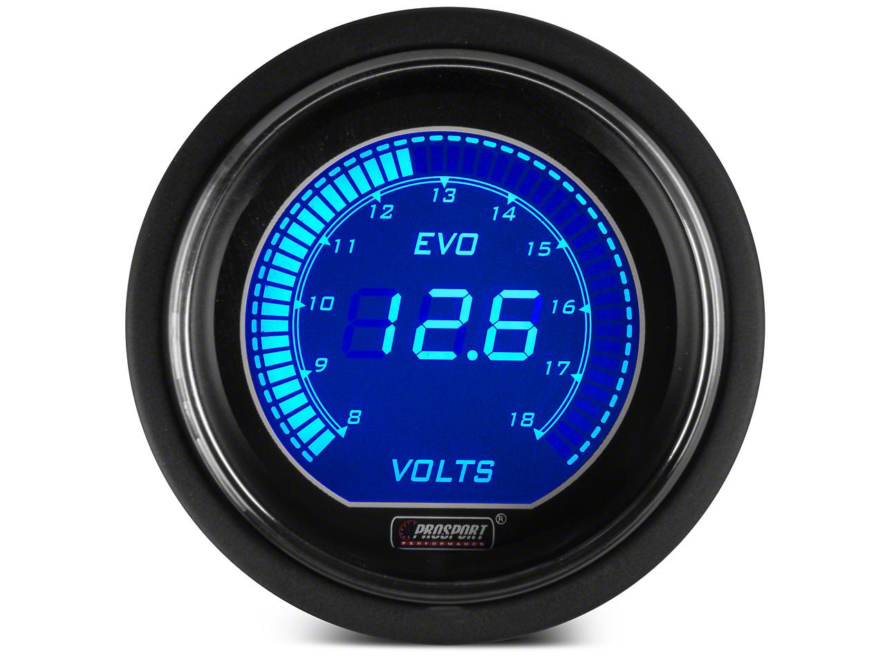 Dual Color Digital Voltmeter Gauge - Electric, Blue/Red (79-17 All)