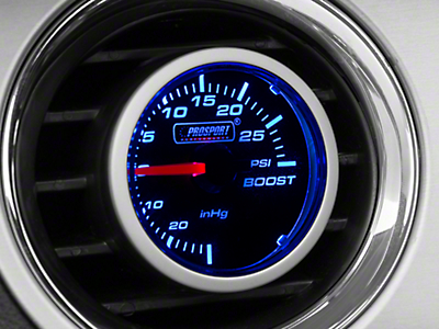 Dual Color Boost/Vac Gauge - 30psi Mechanical, Blue/White (79-17 All)