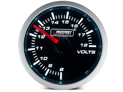 Dual Color Voltmeter Gauge - Electric, Blue/White (79-17 All)