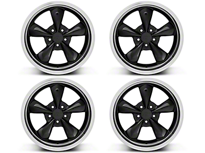Deep Dish Bullitt Black Wheel - 18x9 Wheel Kit (94-04 All)