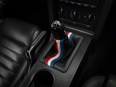 Premium Black Leather Shift Boot - Red, White & Blue Stripe (05-09 GT, V6)