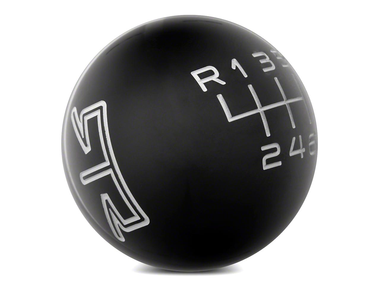 RTR Black Shift Knob - Gray Engraving (11-14 GT, V6)
