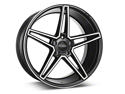 Foose Voss Black Machined Wheel - 20x10 (05-14 All)