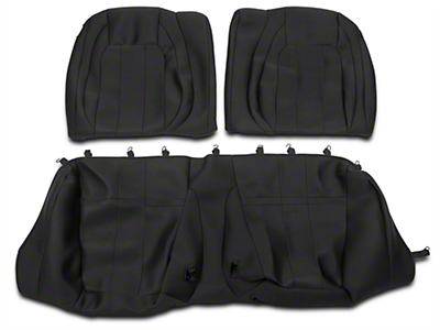 Caltrend Neosupreme Rear Seat Covers - Black - Fastback (15-17 All)
