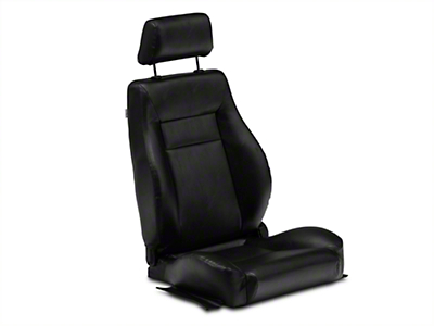 Procar Elite Black Vinyl Reclining Seat - Driver Side (79-14 All)
