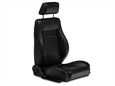 Procar Elite Black Vinyl Reclining Seat - Passenger Side (79-14 All)
