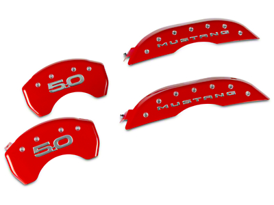 MGP Red Caliper Covers w/ 5.0 Logo - Front & Rear (15-17 GT)