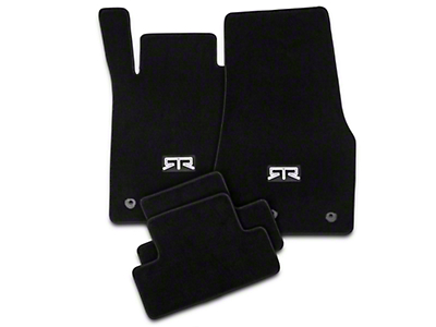 RTR Front & Rear Floor Mats w/ RTR Logo - Black (13-14 All)