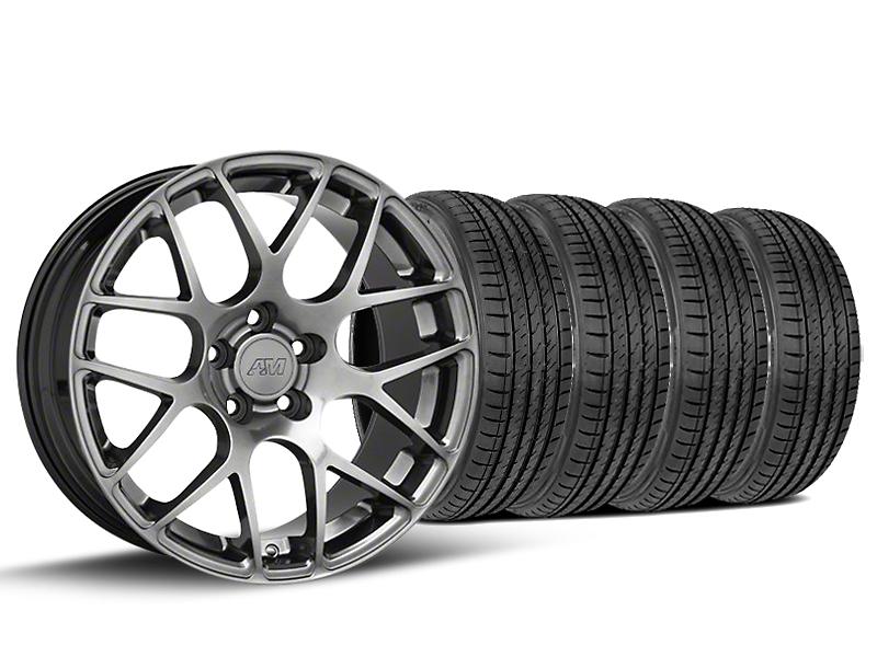 AMR Dark Stainless Wheel & Sumitomo Tire Kit - 19x8.5 (15-17 All)