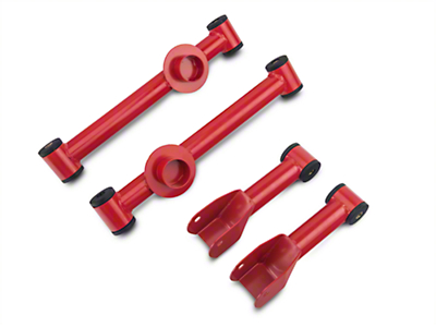 SR Performance Complete Rear Control Arm Kit - Red (79-04 All, Excludes IRS)