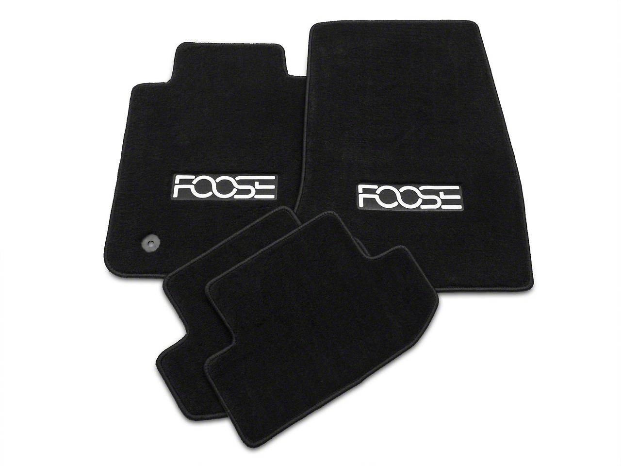 Black Floor Mats - Foose Logo (15-17 All)